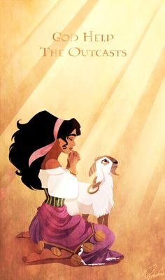 I love the character Esmeralda, not just because she's awesome, but because she is in the ONLY Disney movie to ever talk about God, let alone pray to Him or have a song dedicated to Him! Walt Disney, Disney Pixar, Disney Nerd, Disney Songs, Disney Quotes, Disney Girls, Disney And Dreamworks, Disney Animation, Disney Love