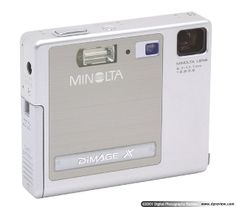Minolta DiMAGE X -- now obsolete, but so cool and my entry into digital photography