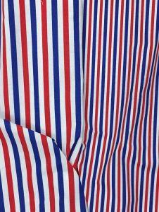 Tissu rayures bleu blanc rouge