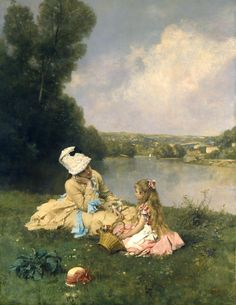 Summer Days at Giverny - 1871 - Ferdinand Heilbuth (german painter)