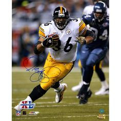 Jerome Bettis Pittsburgh Steelers Signed Superbowl XL Action 16x20 Photo (AJ Sports Auth)