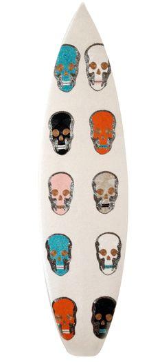 Skull Surf 2012  Beads on Surfboard