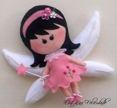 i think ill name her alicia, even thoughshe is not mine! Felt Crafts Dolls, Yarn Crafts, Felt Angel, Felt Fairy, Felt Material, Tooth Fairy Pillow, Felt Christmas Ornaments, Toy Craft, Homemade Crafts