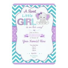 Ideas baby shower ideas for girs elephants purple invitations Baby Shower Yellow, Baby Shower Brunch, Baby Shower Cakes, Baby Shower Parties, Baby Shower Themes, Baby Boy Shower, Baby Shower Decorations, Baby Shower Gifts, Baby Gifts
