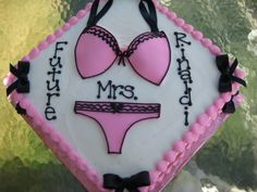Sexy little Bridal Shower cake!