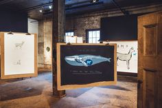 The Invisible Dog is a new exhibition happening in Brooklyn this month by jewelry a designer, Aaron Ruff of Digby & Iona and childrens book author and illustratorOliver Jeffers.