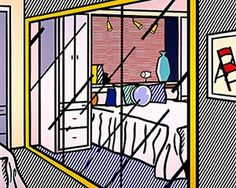 Interior with Mirrored Closet by Roy Lichtenstein (American),oil and magna on canvas, genre: Pop Art, 1991 Roy Lichtenstein Pop Art, Claude Monet, Vincent Van Gogh, James Rosenquist, Modern Art, Contemporary Art, Industrial Paintings, Pop Art Movement, Jasper Johns