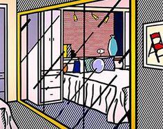 Interior with mirrored closet