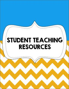 Student Teaching Resources Cover