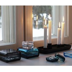Crafted from cast iron and designed by Andres Engesvik, this is truly a bold beauty. iittala Allas Rectangle Candle Holder - $110