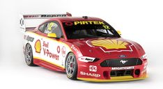 Shell V-Power Racing Team livery. Photo by Shell Australia on February 2019 at Shell V-Power Racing Team launch. Browse through our high-res professional motorsports photography Mustang Cars, Ford Mustangs, Radios, Motorsport Magazine, Australian V8 Supercars, Aussie Muscle Cars, American Auto, Cars Series, Running