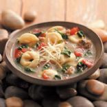 Rustic Italian Tortellini Soup -Low calorie ...but DOES NOT taste like it.  Made this for dinner tonight.  AMAZING!