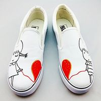 Fashional hand painted sneaker canvas shoes slip-on canvas shoe