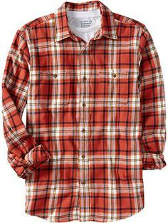 "Old Navy Mens Regular-Fit Flannel Shirt - color ""Hot Sauce"", size ""L Tall"" Flannel Shirts, Mens Flannel, Flannels, Fashion Wear, Mens Fashion, Old Navy Men, Western Shirts, Hot Sauce, What I Wore"