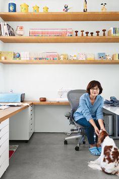 Modern Home Offices, Large Desk, Drawer Unit, Prefab Homes, Floating Shelves, Wood Shelves, Police, Alex Drawer, Oak Desk