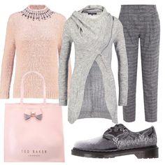 Rosa e grigio