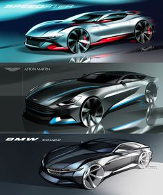 Transportation Design Sketches by Tony Chen