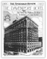 The Davenport is a beautiful historic hotel in Spokane Washington. It has been fully remodeled and is very grand.