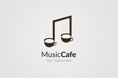 Music Cafe Logo Template @creativework247