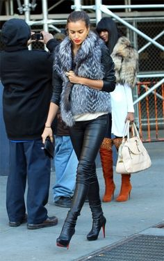 Fur Jacket and Leather