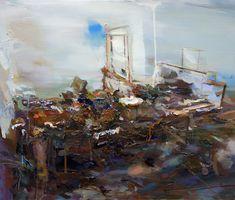 Carlos San Millán S/T (Estudio de K II). Oil on canvas, 65 x 75 cm.
