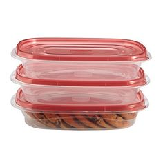 Rubbermaid TakeAlongs 4 Cup Rectangle Food Storage Container 3 Pack -- Want additional info? Click on the image.