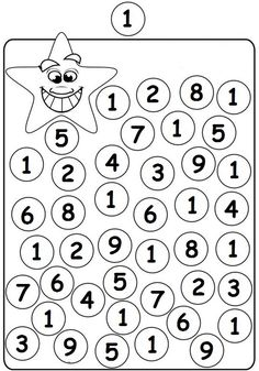 Number Tracing Worksheets For Kindergarten- 1-10