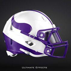 NFL Concept Helmets by Ultimate Effects Vikings New Nfl Helmets, Football Helmet Design, College Football Helmets, Best Football Team, Nfl Football, Custom Helmets, American Football, Canadian Football, Minnesota Vikings Football