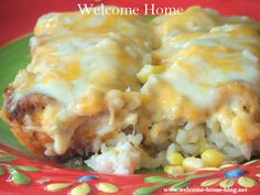 Welcome Home Blog: ♥ Chicken Enchiladas In Cheese Sauce