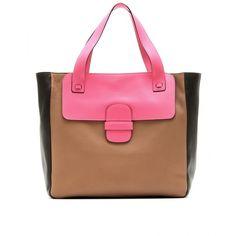 Marc Jacobs Khaki Leather Shopper Tote, found on polyvore.com