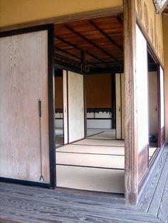 An interior of the Katsura Imperial Villa, Kyoto.  Sliding panels everywhere....yes!