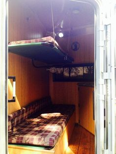 bunk beds inside bumper pull trailer