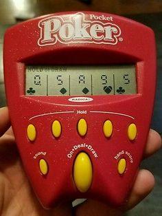 Radica Pocket Poker Draw & Deuces 1997 Electronic Handheld Game Travel Size