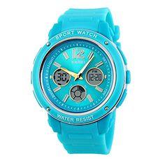 Tangda SKMEI Damen Herren Unisex Armbanduhr Elektronische Sport Uhren Wasserdichte Schule Uhr Child Watch Quarzuhr - Blau und Silber - http://uhr.haus/skmei-12/tangda-skmei-damen-herren-unisex-armbanduhr-uhr-6