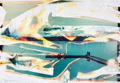 """""""Lakes and Reservoirs"""" by Matthew Brandt. Colour photographs are printed and soaked in the water from the lake orreservoirin each image."""