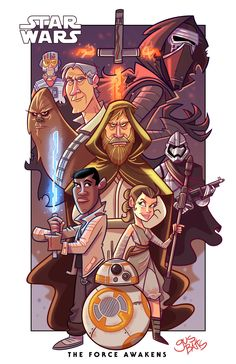 Star Wars The Force Awakens fan art contest Star Wars Saga, Star Wars Luke, Star Wars Fan Art, Star Wars Pictures, Star Wars Images, Boxing Day, Star Wars Cartoon, Character Art, Character Design