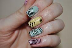 88 Best Line Nail Art Designs Images On Pinterest Pretty Nails