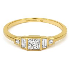 Deco Trilogy Ring - CRED Jewellery - Fairtrade Jewellery - 4