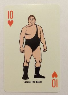 1988 WWF Andre The Giant Single Playing Swap Card