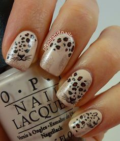 .Different take on Cheetah nails .