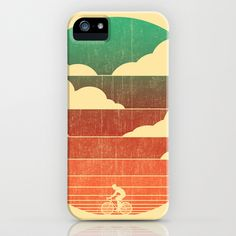Go West (cycling edition) iPhone & iPod Case by Budi Satria Kwan - $35.00