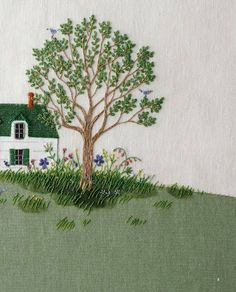 Embroidered Home & Front Yard.