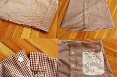 restyled men's button up.