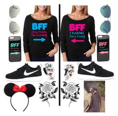 """""""Thx for always being there for me"""" by gabby0604 ❤ liked on Polyvore featuring NIKE, Forever 21, Tiffany & Co., Ray-Ban, JFR and Bling Jewelry"""