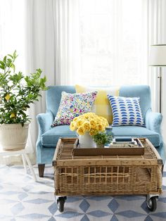 Cheerful essentials to transform your sunroom space from dreary to bright.