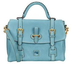 Dooney & Bourke Florentine Leather Flap Tab    Satchel