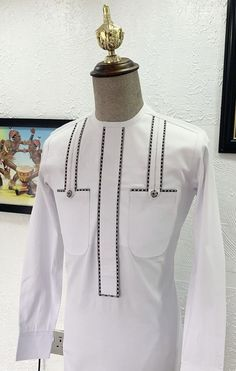 African Wear Styles For Men, African Shirts For Men, African Dresses Men, African Attire For Men, African Clothing For Men, Nigerian Outfits, Nigerian Men Fashion, African Men Fashion, Gents Kurta Design