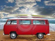 vintage red Kombi Van. Love a VW