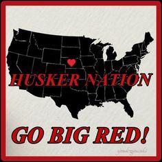 Husker Nation! Go Big Red! | Design: Sjendrzejewski