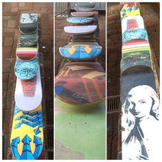 Custom #skateboards at #streetcraftla!